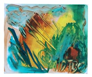 """Gouash Acrylic Painting On Canvas Title: """"Brimstone"""". 2017"""